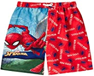 licensed Boy Spiderman Swim Shorts Trunks Ages 3-10