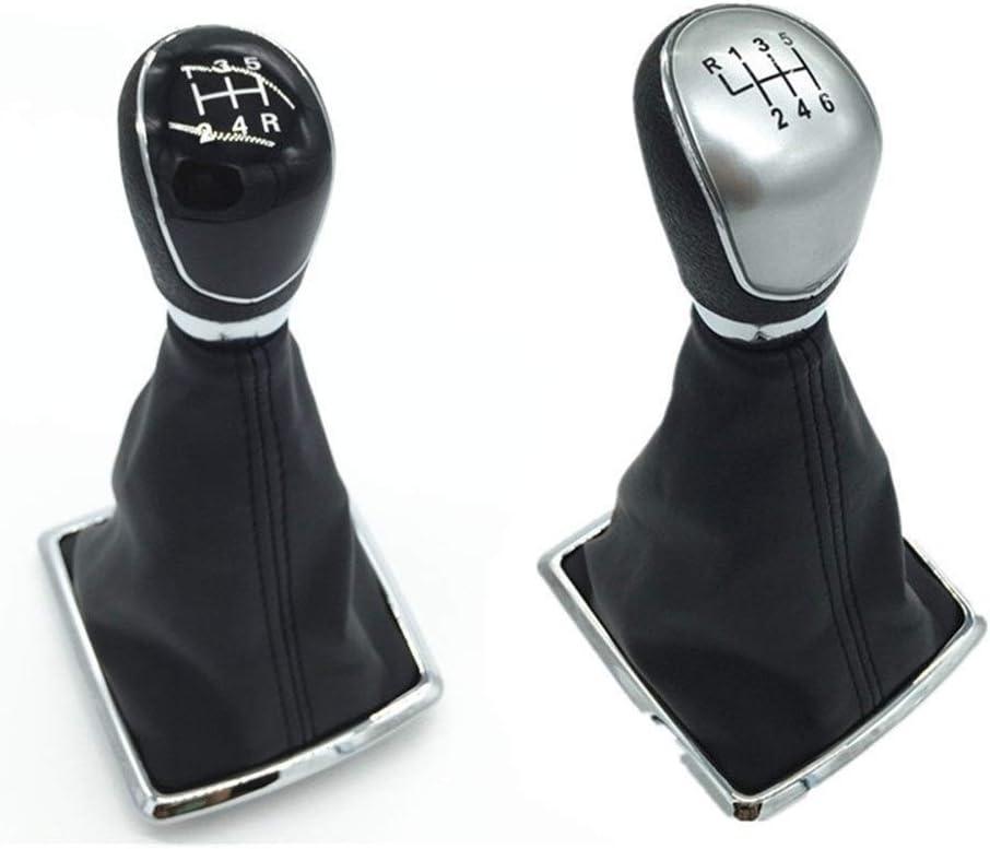 Color : BLack, Size : 5 SPEED OutdoorKing 5 6 Speed Gear Shift Knob Gaiter Boot Cover For Ford Fiesta MK7 Focus MK2 FL NK3 C-max FL B-max S-max Galaxy MK3 Kuga Transit Gear Shift Knob Gearstick