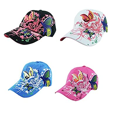 BCDshop Butterfly Flower Baseball Cap Women Lady Duck Tongue Hat Anti Sai Cap