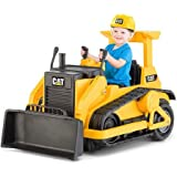 Kid Trax CAT Bulldozer 12-Volt Battery-Powered Ride-On/1 speed forward plus reverse