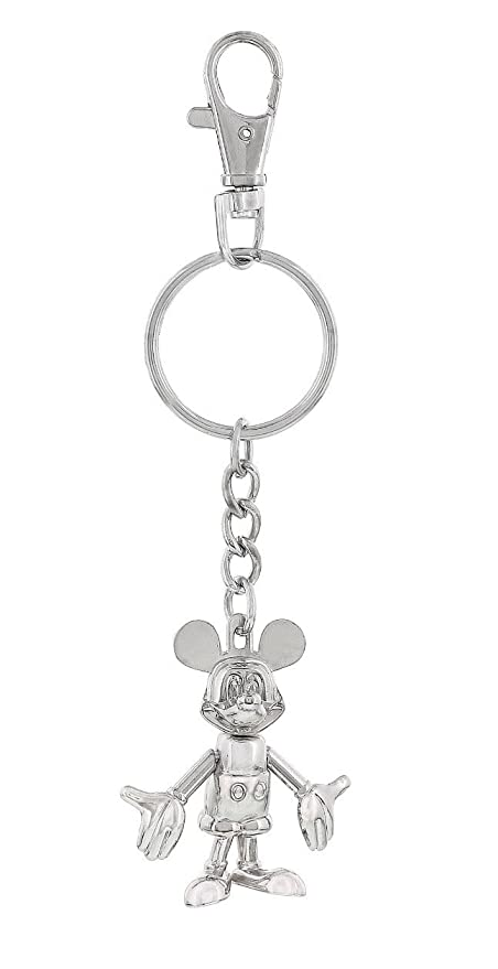 Disney Mickey Mouse Silver Articulating Keychain - Disney Parks Exclusive & Limited Availibility
