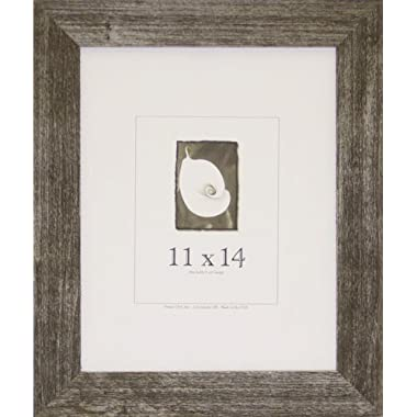 11x14 Farmhouse Barnwood Picture Frame w/Real Glass (Charcoal)