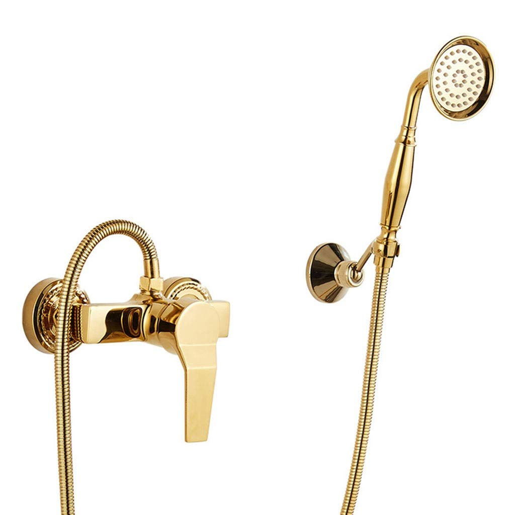 Faucet Golden Shower Set Single Handle Hot and Cold Bath Simple Shower