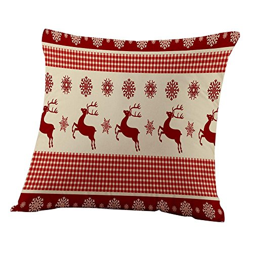 Clearance!Napoo Merry Christmas Pillow Cases Letter Print Sofa Home (A)