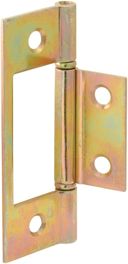 Prime-Line Products N 6656 Bi-Fold Door Non-Mortise Hinge, Brass Plated Steel,(Pack of 2)