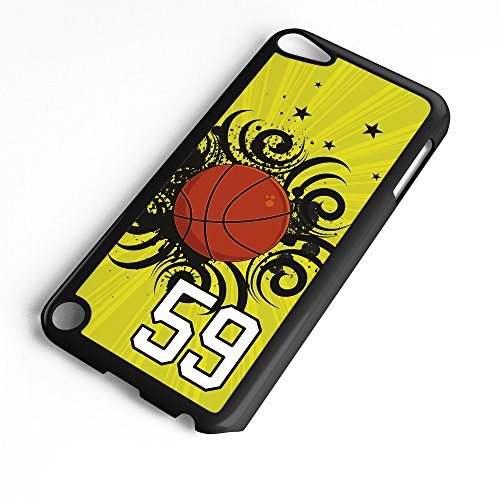 iPod Touch Case Fits 6th Generation or 5th Generation Basketball #8900 Choose Any Player Jersey Number 59 in Black Plastic Customizable by TYD Designs ()
