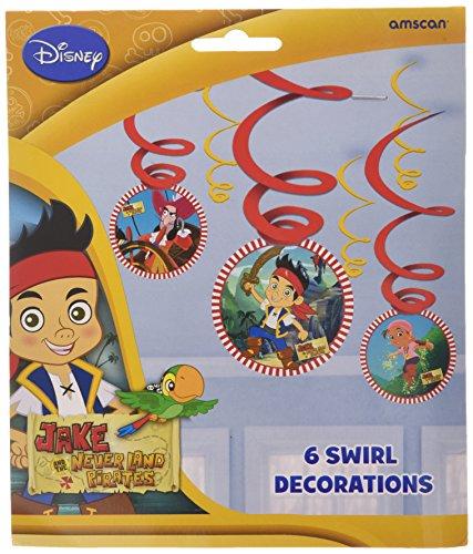Jake et les Pirates Décorations Neverland Swirl (Pack de -