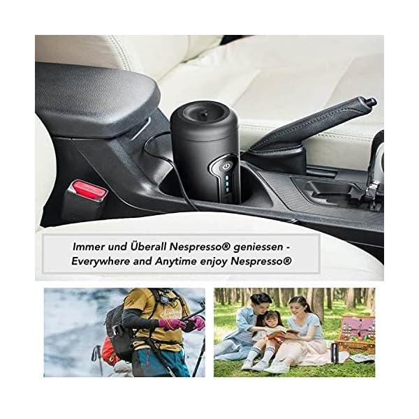 51Mo uzZc5S Tragbare Espressomaschine Akku Kaffeemaschine, Elektrisch 12V Reise Unterwegs Auto, Camping, Boot, Hiking kompatibel…