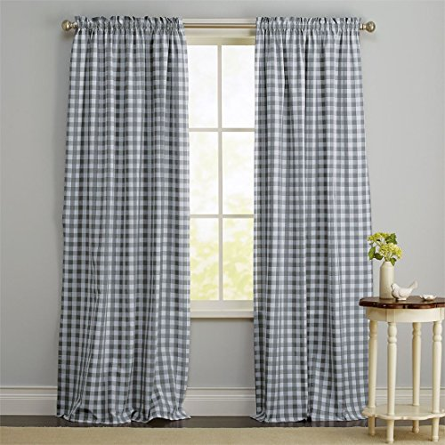Brylanehome Buffalo Plaid Curtain Gray 42 W 84 L 2016