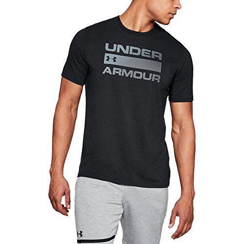 (Under Armour Men's Team Issue Wordmark T-Shirt, Black /Rhino Gray,)