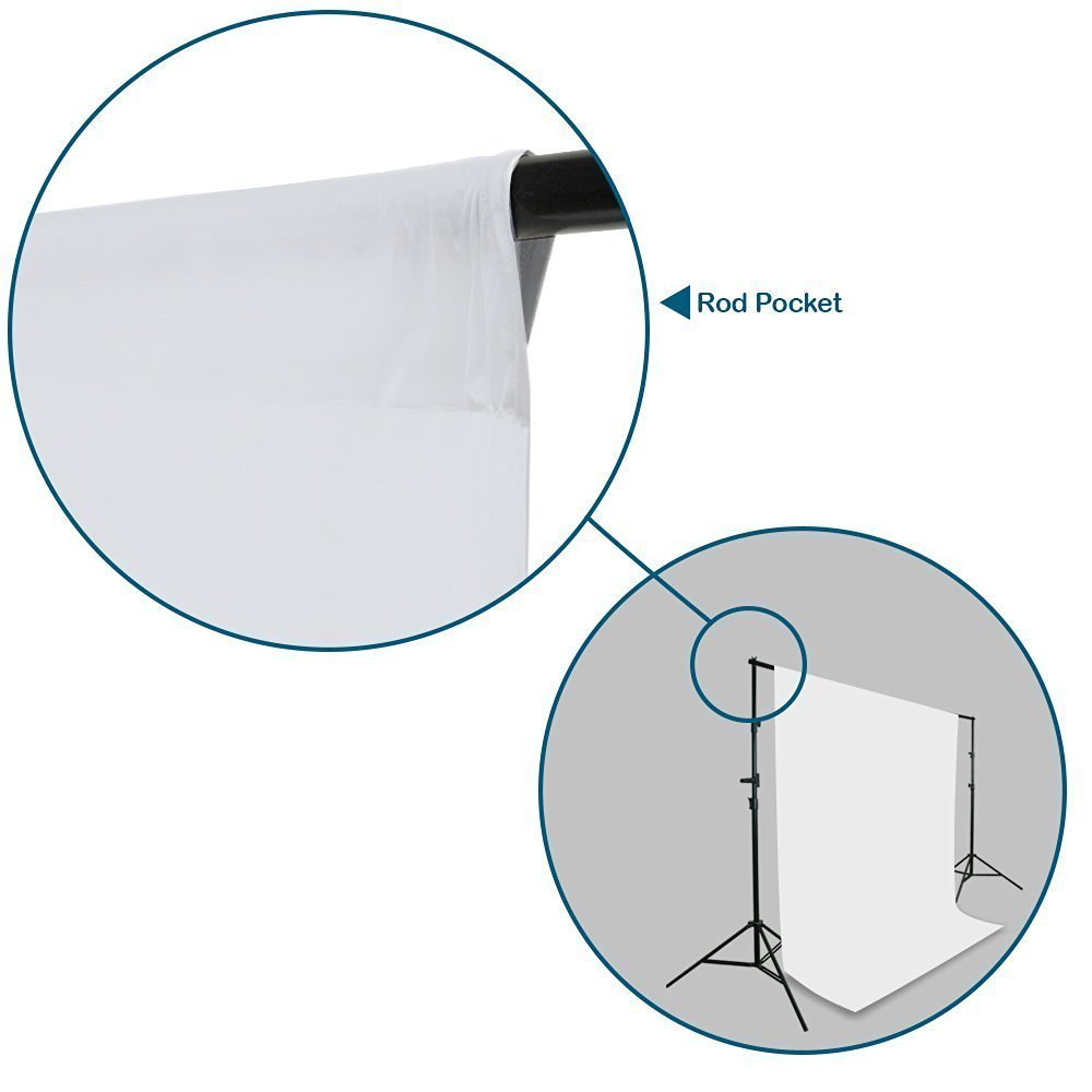 LimoStudio 6 ft X 9 ft White Photo Video Photography Studio Fabric Backdrop Background Screen, LMS217V2