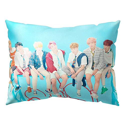 NUOFENG Kpop Bangtan Boys Love Yourself ? Answer Square Throw Pillow Cover Pillowcase, 19.7x11.8inch (F-Version)
