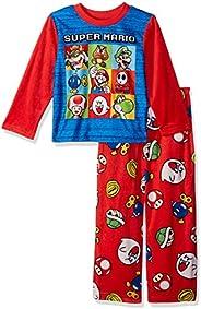 Super Mario Brothers Boys' Nintendo 2-piece Fleece Pajama Set