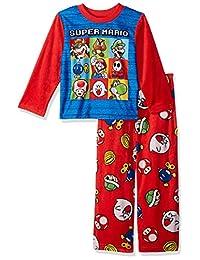 a0e0302da0 Super Mario Brothers Juego de Pijama de Forro Polar de 2 Piezas para niños