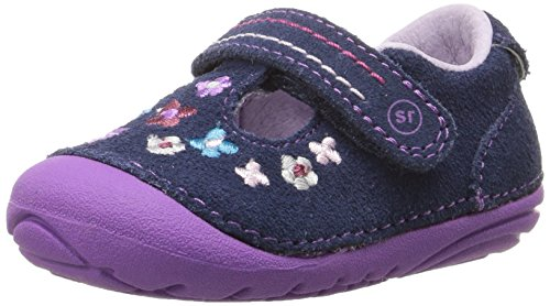 Stride Rite Baby Girl (Stride Rite Soft Motion Tonia T-Strap (Infant/Toddler), Navy, 5.5 W US Toddler)