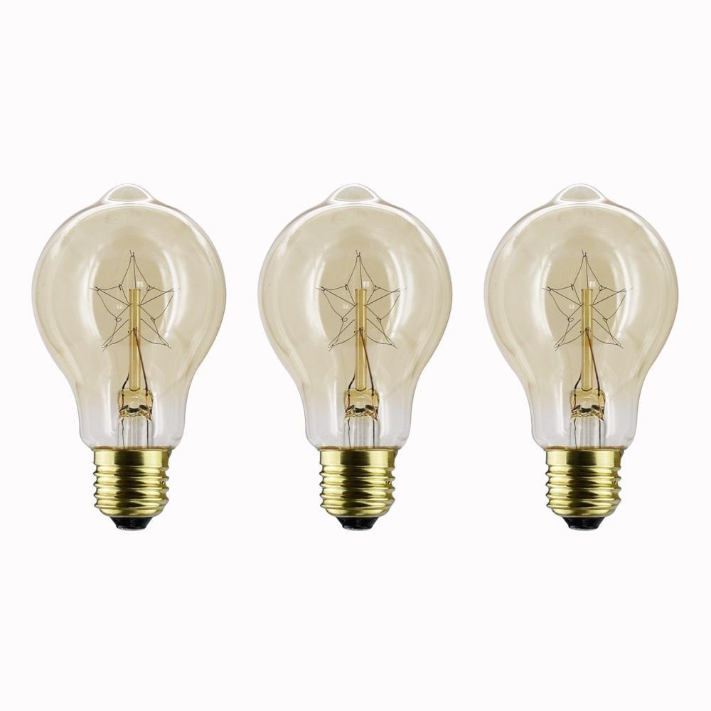 Y&M A60 E26 / E27 40W 110 / 220V Tungsten filament bulb 3PCS