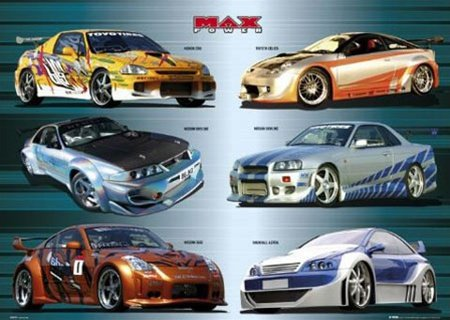 Maximum Power Import Drag Racing Modified Tuner Cars Posters 24 x 36 (Honda Import Tuner)