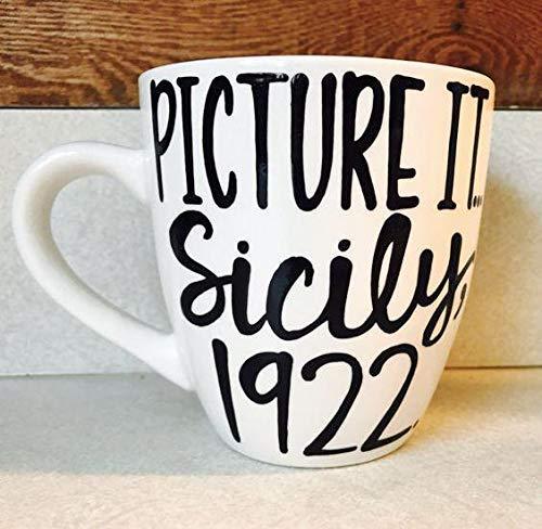 Golden Girls Coffee Mug Picture it Sicily 1922 Pick Me Cups Original Mug