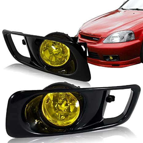 1999 2000 Honda Civic 2/4DR Fog Lights Kit Yellow