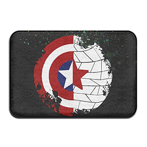 Caromn Rectangle Captain Shield Area Rugs Pad For Children Play Home Decorator Bedroom Living Room Bathroom