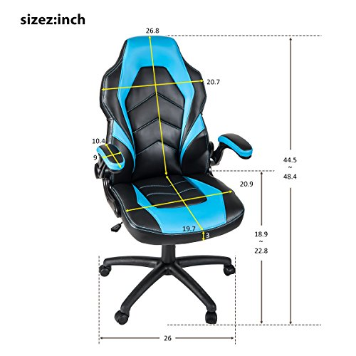 51Mo1GhCYlL - ModernLuxe-Ergonomic-High-Back-Racing-Style-PU-Leather-Gaming-Chair-with-Flipped-Armrests