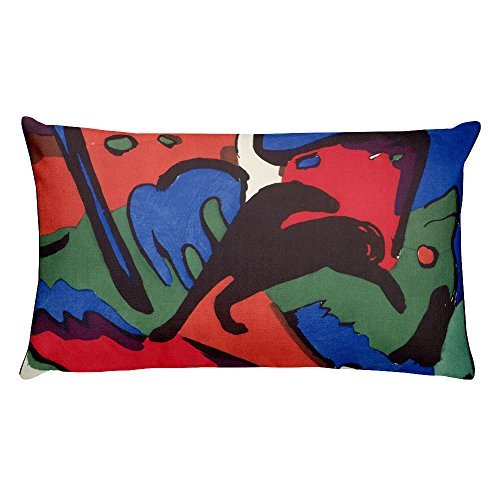 Franz Marc and Wassily Kandinsky, The Blue Rider - Rectangular Pillow - Wassily Kandinsky The Blue Rider