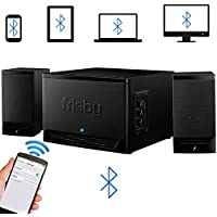 Frisby FS-3500BT Bluetooth Wireless Stereo 2.1 Speaker System Subwoofer for Smartphones, Tablets, Desktops, Laptops (Black)