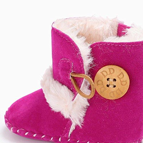 Cómodos Calientes 18 Muchacha Invierno Auxma Botas Lindos Para Meses Primeros Caminar Caliente Rosa Zapatos Moda La Nieve Del De Por Infantil 0 Bebé qwPXnwHI