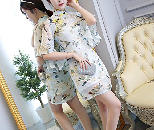 Damen Kleid Kleid Weiß Lazutom Lazutom Damen p5cZH5q