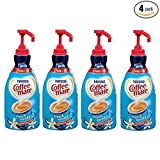 NESTLE COFFEE-MATE Coffee Creamer, French Vanilla, 1.5L liquid pump bottle, Pack of 4