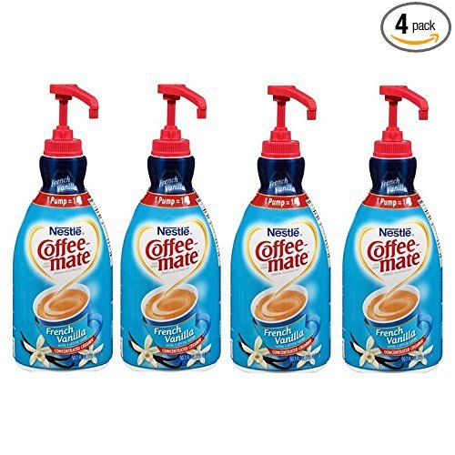 NESTLE COFFEE-MATE Coffee Creamer, French Vanilla, 1.5L liquid pump bottle, Pack of 4 by NESTLE COFFEE-MATE Coffee Creamer
