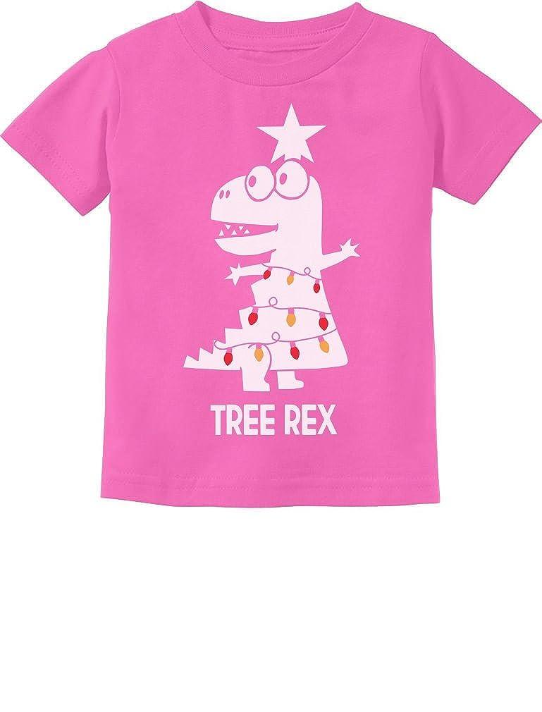 TeeStars Tree Rex Cute Funny T-Rex Dinosaur Christmas Toddler Kids T-Shirt