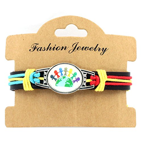Sykdybz 100% Hand Woven Leather Autistic Bracelet, Four Quarter Wreath Bracelet,Two