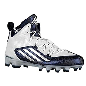 Adidas Crazyquick 2.0 Mid Mens Football Cleats 9 White-Platinum-Navy
