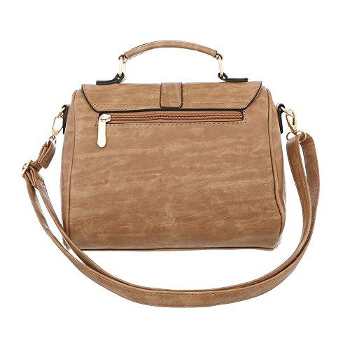 Damen Tasche Handtasche Used Optik Schultertaschen Umhängetasche Shopper Tasche Henkeltasche Beuteltasche Camel hFwwI
