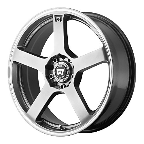 Silver Motegi Racing - Motegi Racing MR116 Dark Silver Wheel With Machined Flange (17x7