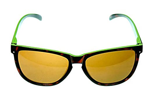 09f010600ef5 Image Unavailable. Image not available for. Color  Ocean Eyes Kool Kat -  Shiny Tortoise and Green Polarized Sunglasses