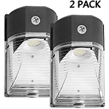 Cinoton LED Wall Pack Light,26W 3000lm (Dusk-to-dawn Photocell,Waterproof IP65), 100-277Vac,150-250W MH/HPS Replacement,Outdoor Security Lighting (5000K, 2PACK)