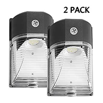 Cinoton LED Wall Pack Light,26W 3000lm (Dusk-to-dawn Photocell,Waterproof IP65), 100-277Vac,150-250W MH/HPS Replacement,Outdoor Security Lighting (4000K, 2 PACK)