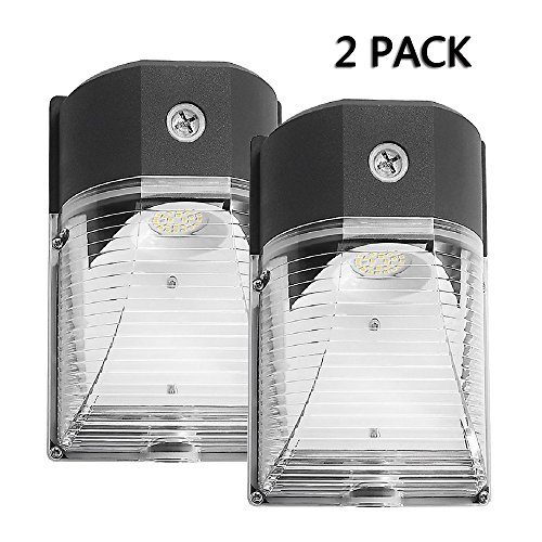 250 Die - Cinoton LED Wall Pack Light,26W 3000lm 5000K (Dusk-to-dawn Photocell,Waterproof IP65), 100-277Vac,150-250W MH/HPS Replacement,Outdoor Security Lighting (2 PACK)