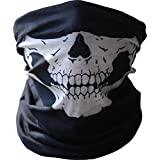Hitaocity Skull Tubular Mask Balaclava Bandana Motorcycle Scarf Face Neck Warmer GHOSTS Skeleton Harley Call of Duty Helmet Outdoor Riding Cycling Motorcycle Bike Ski