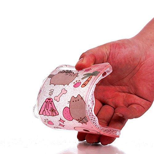 Sunroyal ® iPhone 7 Plus Funda,Carcasa iPhone 7 Plus Semi-transparentes TPU Gel Goma Brillante Case Cover Ultra Slim Silicona Suave Bling Caja del Teléfono Resistente a los Arañazos Funda para iPhone  D-07