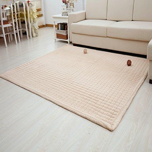 Rug WAN SAN QIAN Children's bedroom Climbing mat Bedroom Fully carpeted Living room Rectangular carpet Cloakroom Mat (Color : Camel, Size : 80x180cm) by Rug