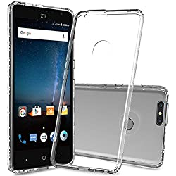 ZTE Sequoia Case,ZTE Blade Z Max Case,ZTE Blade Zmax Pro 2 Case,ZTE Z982 Case Clear With Screen Protector,AnoKe Scratch Resistant Mandala Women Girls Slim Fit Protective Phone Cover For ZTE Z982 Clear