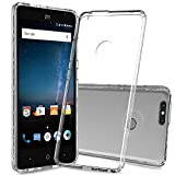 Case ZTE Blade ZMax Z982 Phone Cases,ZTE Sequoia / Blade Zmax Pro 2 Case Clear,AnoKe Slim Fit Protective Cell Phone Case Cover with Screen Protector for Women Girls Men Kids Boys ZTE Z982 Fund Clear
