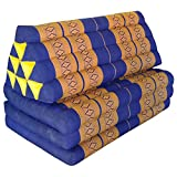 Asian XXL cushion - 2 in 1 with attached mattress extension - useable folded or unfolded, see fotos (82118)