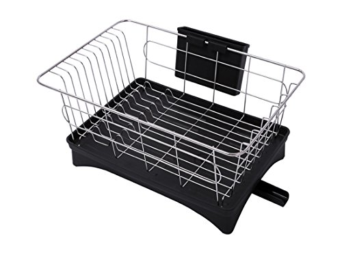 FMLY Kitchen Stainless Steel Dish Rack With Tray - Swivel Sp