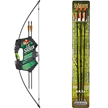 Amazon.com : Barnett Lil Sioux Jr. Recurve Youth Archery Set and Arrows Bundle : Children S Recurve Bow And Arrow : Sports & Outdoors