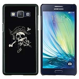 Stuss Case / Funda Carcasa protectora - Capitán Espada Cráneo Negro Pirata - Samsung Galaxy A5 A5000