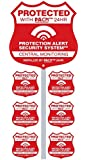 Home Alarm Yard Sign w Post & 6 Alarm System Stickers plus free bonus security camera warning sticker!